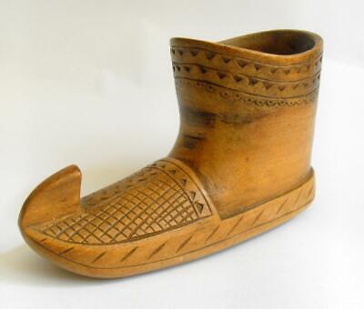 Vintage woodenware boot shaped desk tidy / deskweight poss Scandinavian 11743
