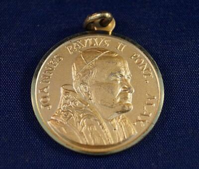 Vintage Religious Joannes Paulus II 1983 Medallion Pendant