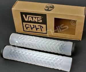 Cult X Vans Flangeless Grips Waffle Pattern BMX Bike / Scooter - Clear