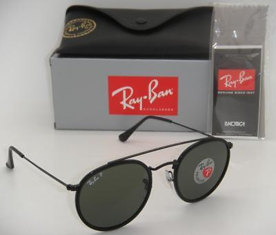 New Authentic Ray-Ban RB 3647N 002/58 51mm Black Frame Crystal Green (Ray Ban Green Polarized)