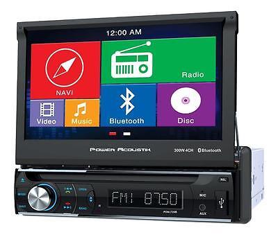 """NEW Power Acoustik PDN-726B DVD/CD Player 7"""" LCD GPS Navigation Bluetooth USB"""