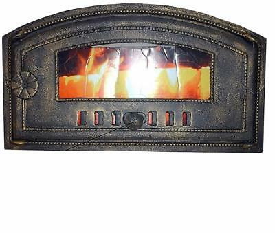 Cast Iron Fire Door Clay Bread Oven Pizza Stove Quality Old Cooper (E) 48 x 27