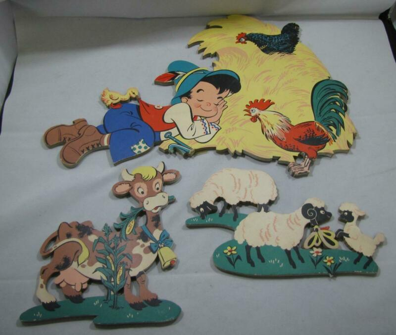 VINTAGE MOTHER GOOSE PIN-UPS LITTLE BOY BLUE