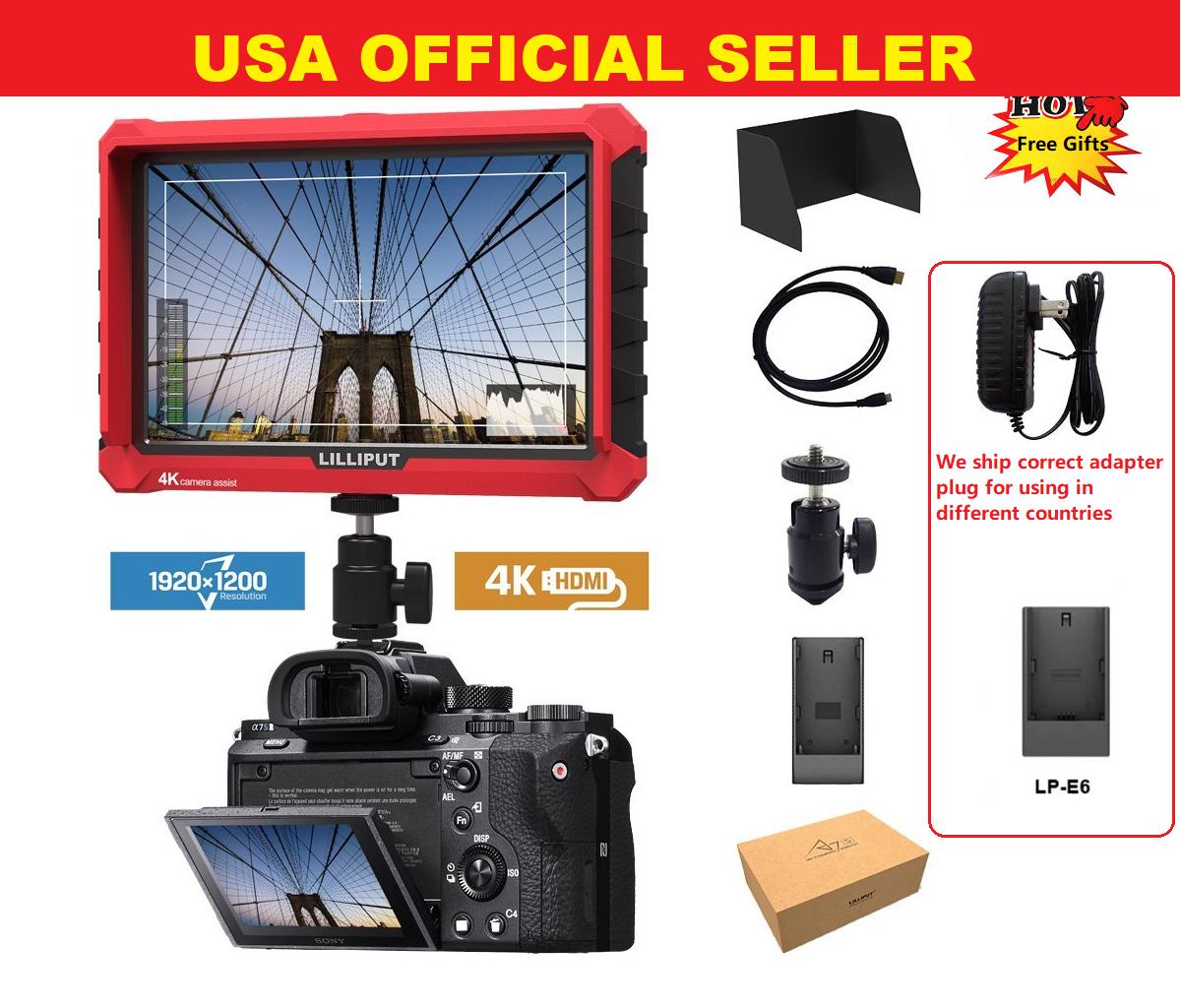 "Lilliput A7s 7"" 1920x1200 4K HDMI DSLR Camera field monitor"