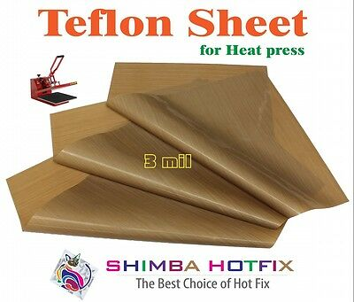 3 Pack 15x15  Teflon Sheet For Heat Press  3 Mil 0.003 Inch