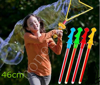 Children Lovely Fun Outdoor Toys Bubble Giant Bubble Sword Wand Color Randomly (Colored Bubbles)