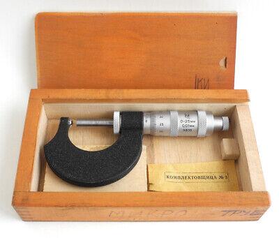 Tube Micrometer Mt 25 0.01mm 0-25mm Precision Measuring Tool Ussr Soviet 1960s
