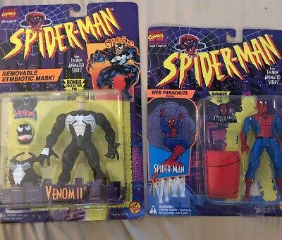 Spider-Man Sealed In Box Action Figures (Spiderman)(Venom) 1994 Toy Biz