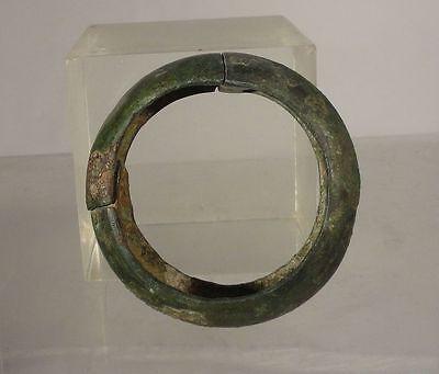 Antique Early Greco-Roman Greek Roman Bronze Band Circle Bracelet Antiquity