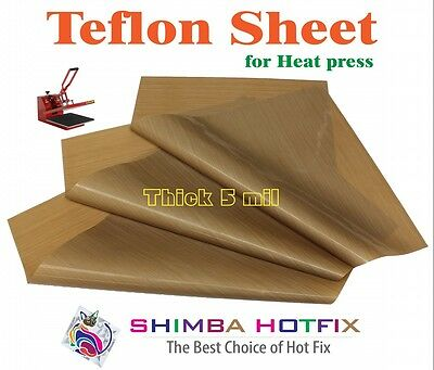 3 Pack Thick Teflon Sheet For Heat Press 15x15  5 Mil 0.005 Inch