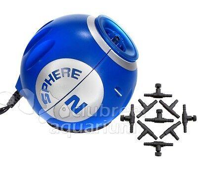 Sphere Two Aquarium Air Pump 40 Gallon Internal Deep Blue LED Light Control Kit