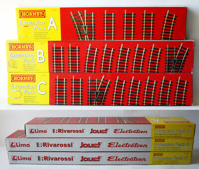3X TRACK EXTENSION PACK A + B + C LIMA RIVAROSSI JOUEF THOMAS TRAIN HORNBY NEW !