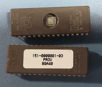 Amd Ic 32pin Eprom Am27c010-120dc Full Tube Of 11 Erasablereprogrammable Pcs