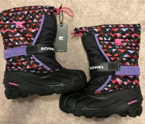 SOREL girl's brand new winter boots-  size 2, with tags