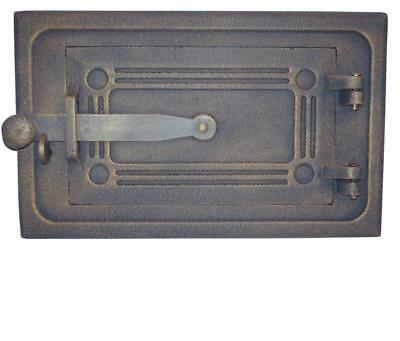 28 cm x 17.3 cm Cast Iron Fire Door Cla Bread Oven Door Pizza Smoke House Gold