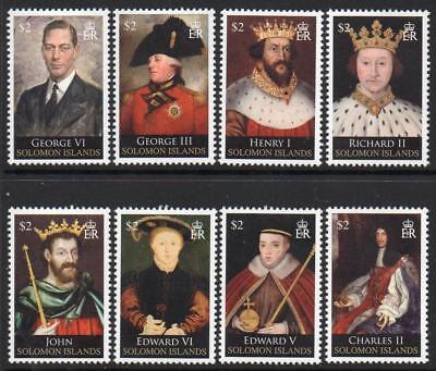 SOLOMON MNH 2010 SG1281-88 Kings and Queens of England (3rd series)