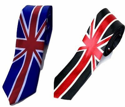 Britische Union Jack-flagge Bedruckt Schmale Krawatte Kostüm Hand