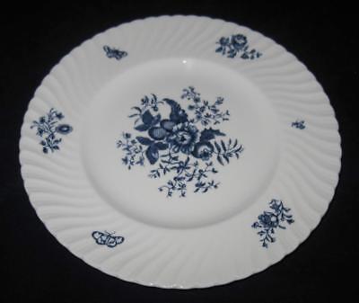 Royal Blue Swirl (Royal Worcester BLUE SPRAYS, Swirl Rim, Dinner Plate, 10 1/2