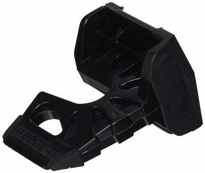 Wedge-It 3 in 1 Ultimate Door Stop Heavy Duty Lexan Plastic Rubber Shim (Black)