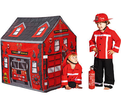 Feuerwehr Spielzelt Haus Fire Station Spielhaus für Kinder Feuerwache Indoor  ()