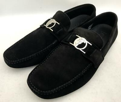 VERSACE COLLECTION Black Suede Medusa loafers Shoes UK11 EU45 US12