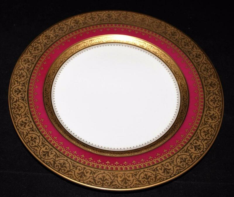 """Faberge IMPERIAL HERITAGE Burgundy, Gold Encrusted, Dinner Plate, 10 7/8""""  (BS2)"""