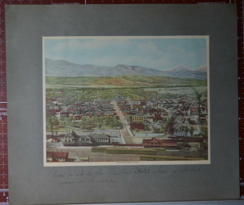 Rare Antique Original 1910 Denver and Rio Grande Railroad Salida Colorado