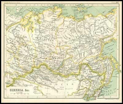 c1912 Map of SIBERIA & C Chart Regions (BS49)