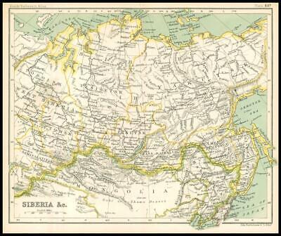 c1912 Map of SIBERIA & C Chart Regions (BS49)