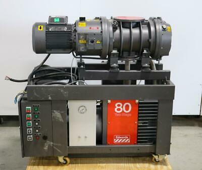Edwards E2m80 Mechanical Vacuum Pump With Edwards Eh1200 Roots Blower