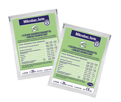 MIKROBAC forte Konzentrat 250x20ml Aldehydfreier Flächen-Desinfektionsreiniger