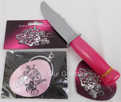 Disney Parks Pirate Princess Pink Eye Patch Ear Ring Dagger Costume Accessories - Pink Pirate Eye Patch