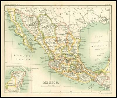 c1912 Map of MEXICO Chart Regions (BS66)