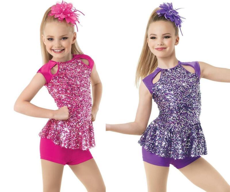 Dance Costume Medium Child Pink or Purple Jazz Tap Weissman Solo Competition