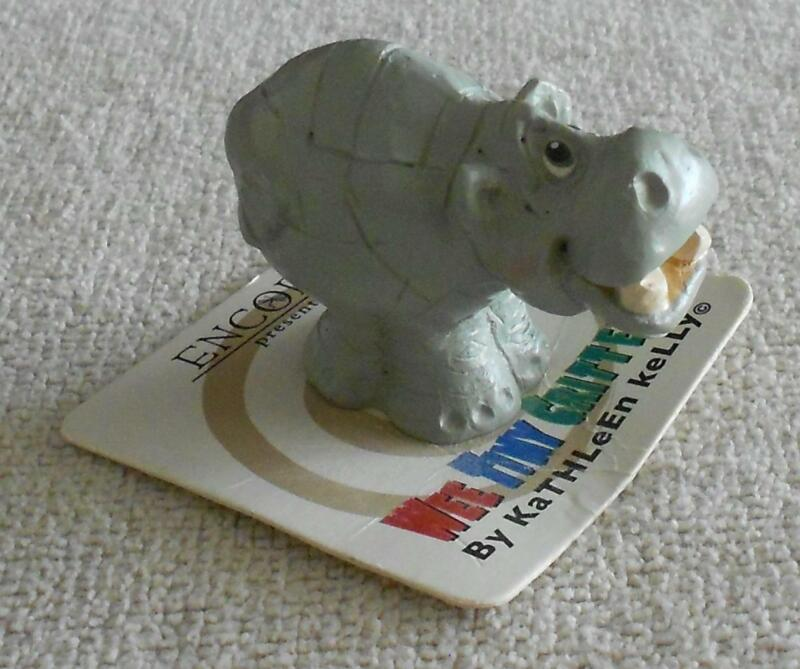 Wee Tiny Critters Hippo Miniature Figurine Encore Kathleen Kelly