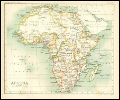 c1912 Map of AFRICA Chart Regions (BS50)