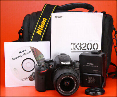 Nikon D3200 DSLR Camera + Nikon 18-55mm VR II Lens Kit - Only 290 Shots -1080p