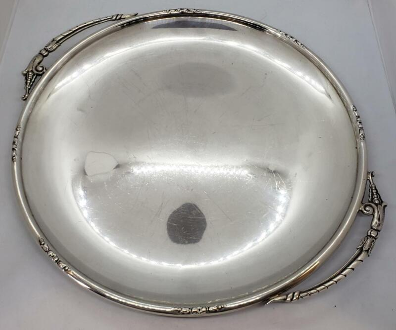 Sterling by Fina Danish Style Blossom Design Silver Tray 412H