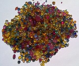 1ct Precious Gemstones Mix - Ruby, Emerald, Sapphire. FREE post on extra gems