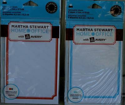 Martha Stewart Home Office Removable Labels - Various - Brand New In Package