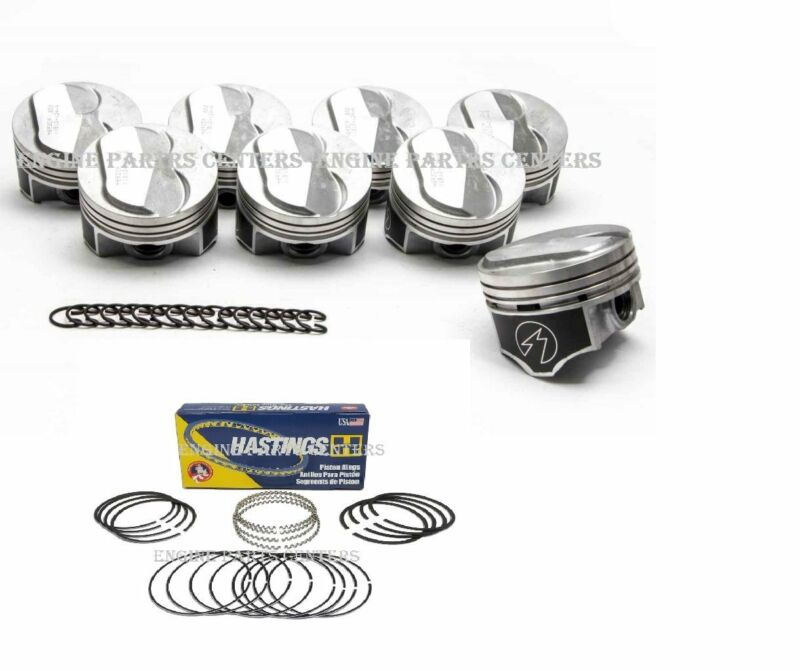 Chevy 7.4//454 Speed Pro Hypereutectic 22cc Dome Pistons+CAST Rings Set//Kit .060