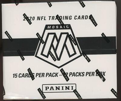 2020 Panini Mosaic Football Factory Sealed Cello Box