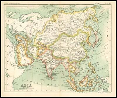 c1912 Map of ASIA Chart Regions (BS35)