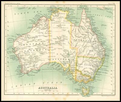 c1912 Map of AUSTRALIA Chart Regions (BS74)