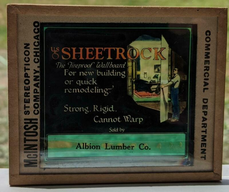 ALBION LUMBER Co SHEETROCK BUILDING MATERIAL OLD PHOTO ADVERTISING, ARCHITECTURE