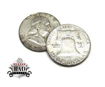 Roll of 20 $10 Face Value 90% Silver Franklin Half Dollars FULL DATE
