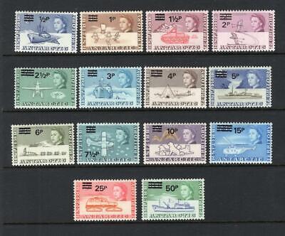 British Antarctic 1971 QEII Set - OG MLH - SC# 25-38  Cats $133.65   No Reserve!