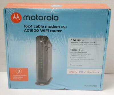 Motorola - Wireless-ac1900 Dual-band Wi-fi Router - Black