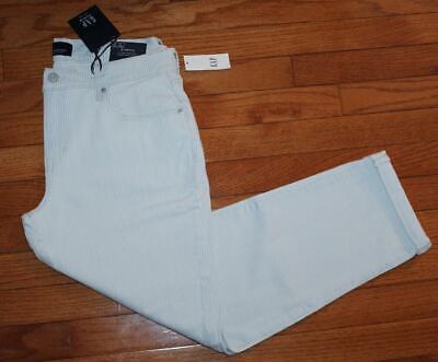 NWT Womens GAP Denim Mid Rise Stretch Girlfriend Jeans Blue & White Stripe *E3