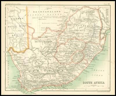 c1912 Map of SOUTH AFRICA Chart Regions (BS53)